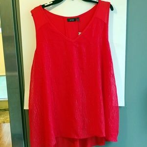 Apt. 9 1x red holiday sparkly tank top